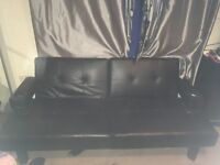 Leather Sofa bed with armrest