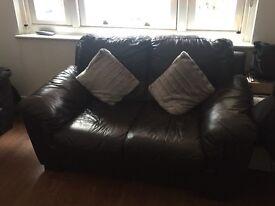 DFS 3+2 seater sofas Italian Leather