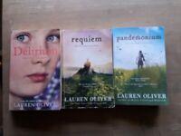 Lauren Oliver Delirium Trilogy, all 3 books (Delirium, Pandemonium, Requiem)