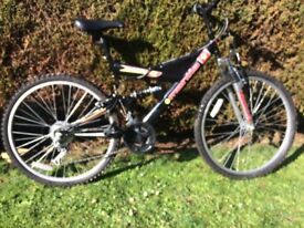 "Mantis Universal All Terrain mountain bike, 18 gears, 26"" wheels"