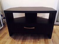 Television corner unit / stand / table (black)