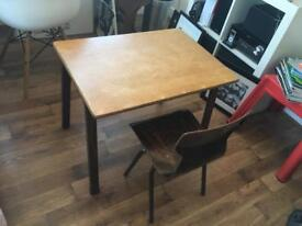 Dutch Vintage child school desk and chair - OBO 6407 EROMES 1965