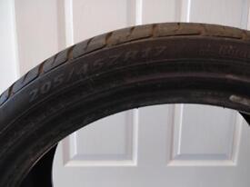 Non run flat tyre for Mini Cooper D