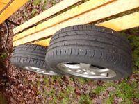 Tyres Wheels 215 55 16 Mercedes W210 2001 Bolts Jet Alloys E320 CDI