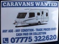 CARAVANS WANTED !!!!