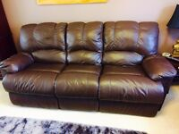 Leather 3-seater recliner sofa in a good condition from a smoke free pet free home. Collection only