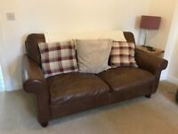 Laura Ashley Leather 2 seater sofa bed