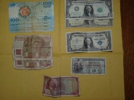 Misc. Foreign Banknotes and Coins