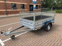 Brand new Faro Tractus 2,36cm wood side 35 cm car box trailer 750kg with mesh side
