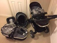 Icandy Peach 1 travel system with carrycot