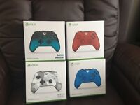 (2017) XBOX ONE CONTROLLERS (Latest Colours) Which Also work on the Latest WINDOWS (P.C'S) Too £35ea