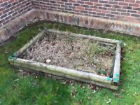 TP wooden sandpit Free to collect
