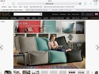 NEXT Bean bag sofa lounger chairs £120 2 months old excellent condition