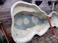 Large fibreglass pond forsale