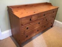 Solid pine chest of drawers / sideboard
