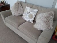 NEXT mink neutral colour 2 seater sofa bed