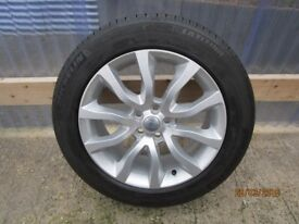 "4 X BRAND NEW GENUINE LANDROVER 20"" ALLOYS & TYRES NEVER USED!"