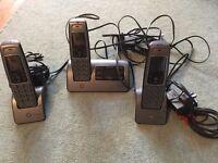 Answering machine + three phones
