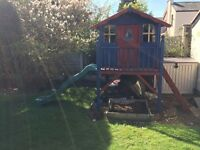 Childrens garden playhouse 200x148. Painted inside and out with new windows.