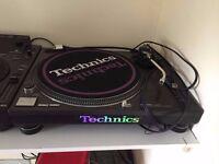 2 x Technics SL-1210 MK2 Turntables + Stylus' - in near mint condition