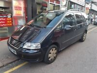 2007 VOLKSWAGEN SHARAN, 7 SEATER, 1.9 TDI, AUTO, BLACK, *DOES NOT REVERSE*