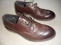 MEN'S BROWN 2-TONE SHOES, SIZE 7. KURT GEIGER, MORTON LEATHER FORMAL. VERY GOOD CONDITION. £19.