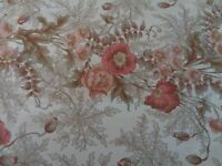 1 pair( 2 curtains ) of Vintage Moygashel Marianne Cotton Curtains