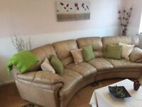 *FREE* Large comfortable corner sofa & 2 armchairs with footstool