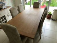 Next Shaftesbury 6-8 Seater Extending Dining Table