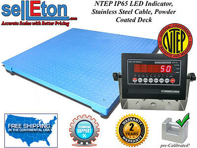 Op-916 Ntep Legal Industrial Warehouse 4 X 4 Floor Scale 5000 X 1 Lb