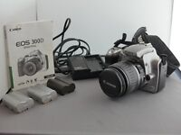 Canon EOS 300D Body with Lens and batteries for spares or repair