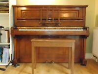 Lovely British-made 1930s walnut piano - FREE DELIVERY IN NORWICH AREA
