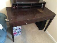 Dark wooden desk - Free. Harborne