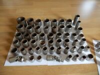 Large job lot of Sockets - Tools bundle - 70 pieces ( Kamasa, Hilka, Draper )