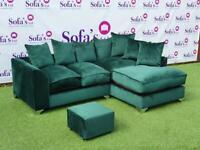 Brand new plush velvet corner sofa sets 😍🔥✅