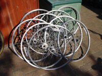 26 inch and 700c front and back bike wheels. READ CAREFULLY.