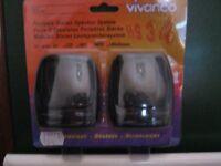 Vivanco portable, lightweight stereo speakers, ideal for travelling - NEW