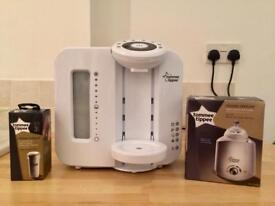 Bundle- Tommee Tippee Perfect Prep Machine with new filter and bottle warmer