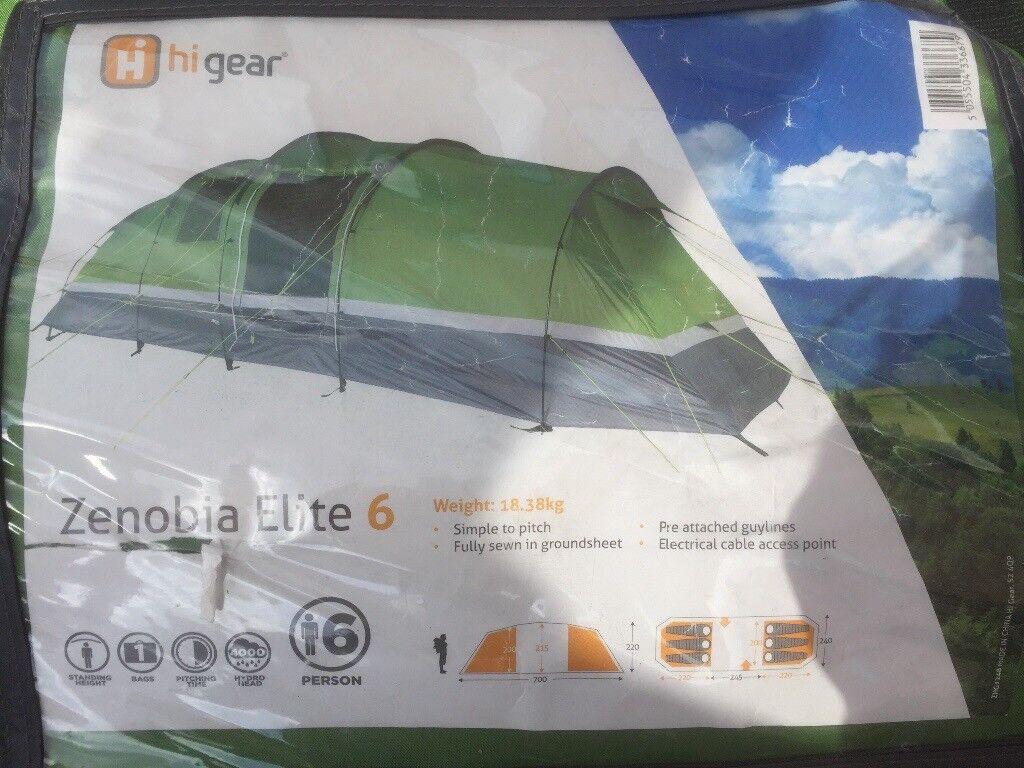Hi Gear Zenobia Elite 6 Tent With Carpet In Stratford