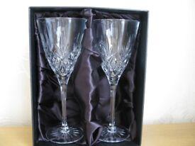 Thomas Webb Crystal Wine Glassses