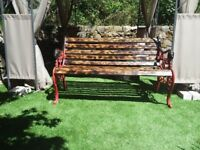Lions Head Cast Iron Bench