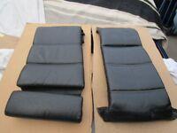 bmw e30 - black convertible sports seat cushions. VGC.