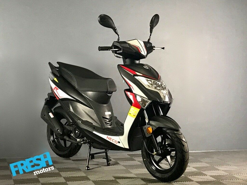 ea9f28cd97d5b Neco One 12R Black 4 Stroke 50cc Scooter - Brand New Learner Scooter   Moped