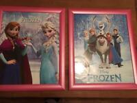 Large frozen pictures.