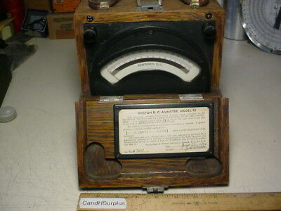 Weston Model 45 Dc Ammeter