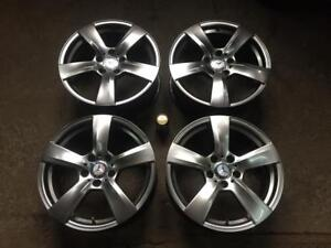 "4 MERCEDES 17"" REPLICA 5 SPOKE ANTHRACITE GREY MAGS"