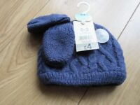BRAND NEW BABY MITTENS & HAT SET age 0-3 months - Great for a gift