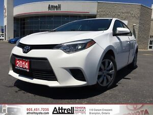 2014 Toyota Corolla LE. Keyless Entry, Heated Seats, Backup Came