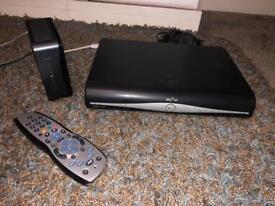 Sky Plus Box with Remote Control, Sky Hub Router