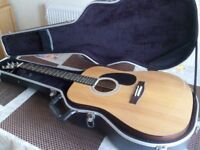 (REDUCED) ACOUSTIC LORENZO GUITAR - WITH HARD CASE £80